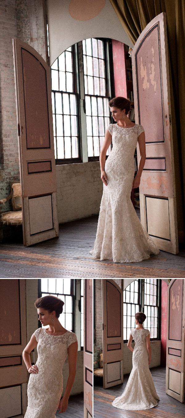 The Latest from Junebug's Wedding Dress Gallery from Enaura Bridal Couture | via junebugweddings.com