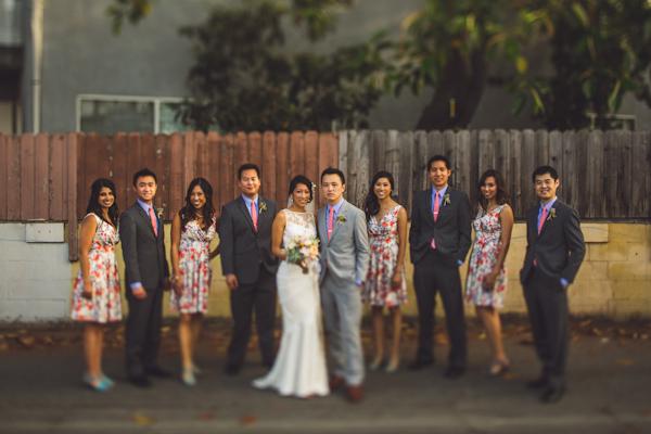 vibrant urban wedding in Los Angeles with photos by Jeff Newsom | via junebugweddings.com (16)