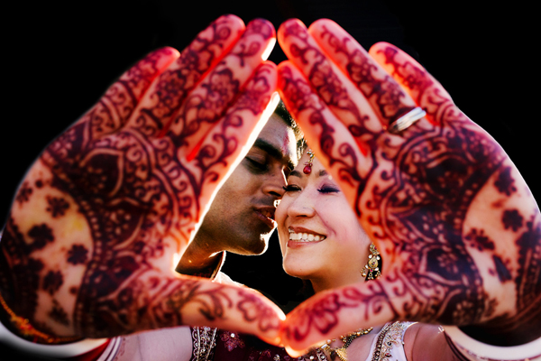 creative Indian wedding photo by Stark Photography, Portland, Oregon | via junebugweddings.com