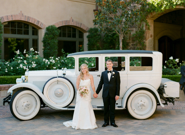 pink and cream wedding at the Big Canyon Country Club, photo by Troy Grover Photographers | via junebugweddings.com (20)