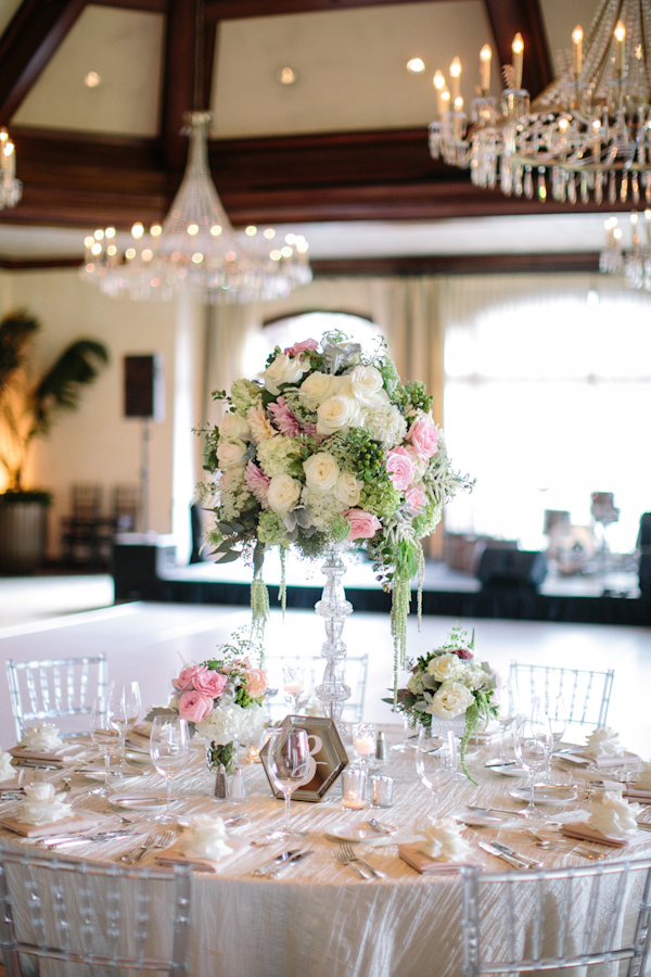 pink and cream wedding at the Big Canyon Country Club, photo by Troy Grover Photographers | via junebugweddings.com (13)