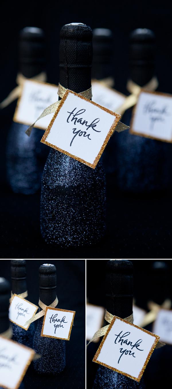 mini sparkling wine bottle wedding favors junebug weddings