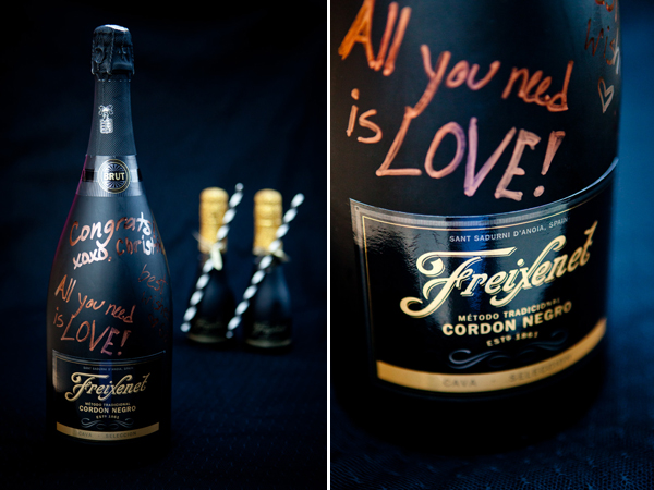 Mini Sparkling Wine Bottle Wedding Favors | Junebug Weddings