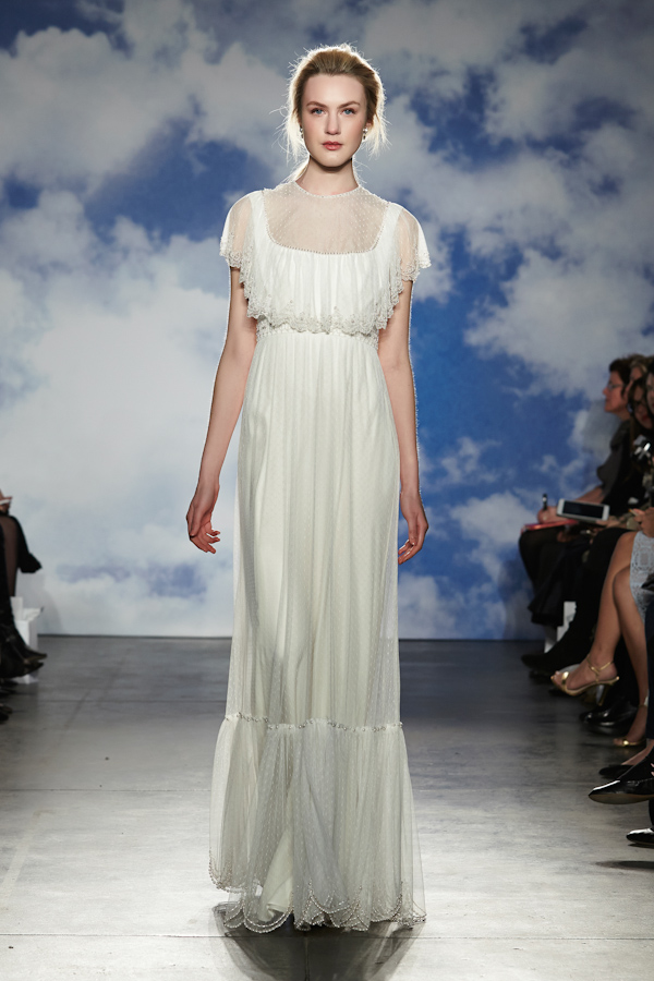 wedding dresses with sleeves - new necklines from the spring 2015 bridal collection by Jenny Packham | via junebugweddings.com