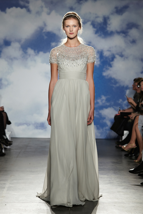 Wedding dresses with sleeves by jenny packham junebug weddings wedding dresses with sleeves new necklines from the spring 2015 bridal collection by jenny packham junglespirit