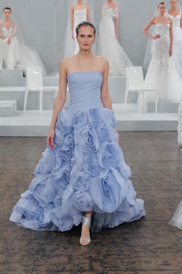 Colorful Wedding Dresses from Monique Lhuillier | Junebug Weddings