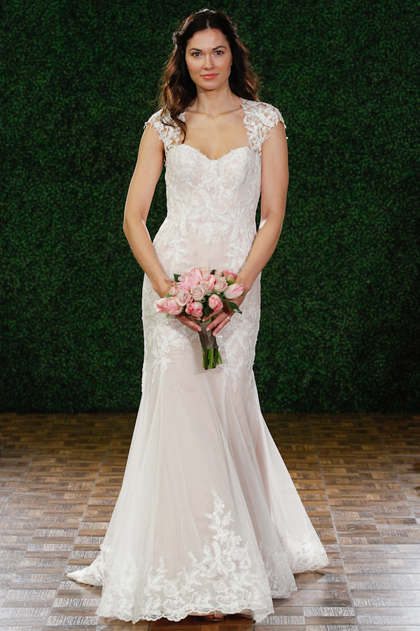 blush and nude wedding dresses - new neutrals in the spring 2015 bridal collection from Watters | via junebugweddings.com