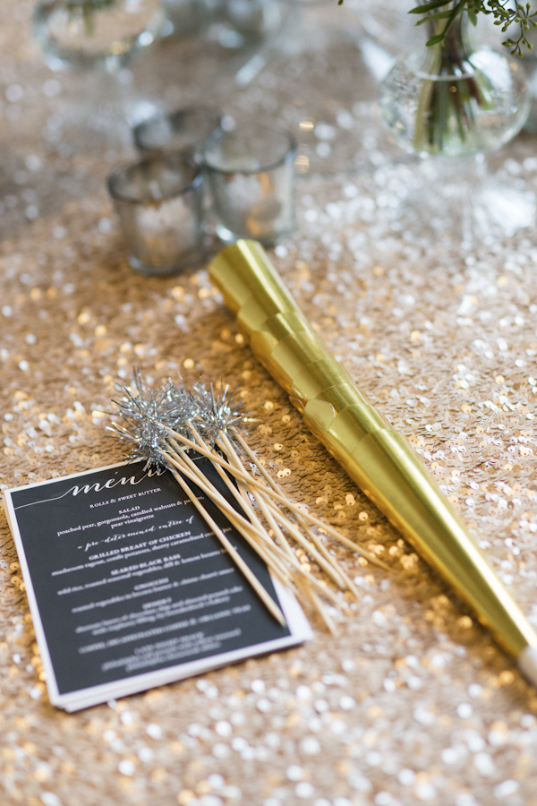 black white gold and silver new years eve wedding photos by asya photography
