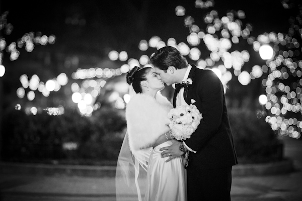 black, white, gold and silver New Year's Eve wedding, photos by Asya Photography | via junebugweddings.com