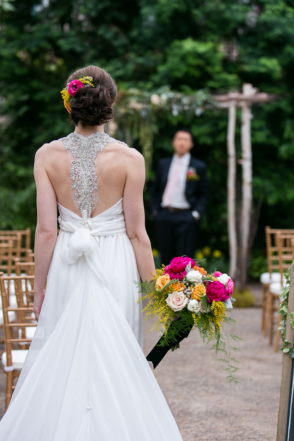 botanical inspiration photo shoot at the Philadelphia Horticultural Center, photos by Lindsay Docherty Photography | via junebugweddings.com