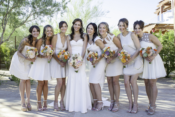 colorful desert wedding at Four Seasons in Scottsdale, Arizona - photo by Erica Velasco Photographer | via junebugweddings.com