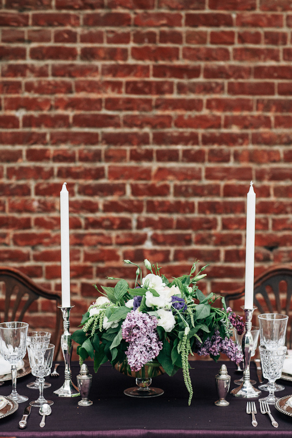 glamourous vintage plum Inspiration photo shoot from Heather Elizabeth Photography | via junebugweddings.com