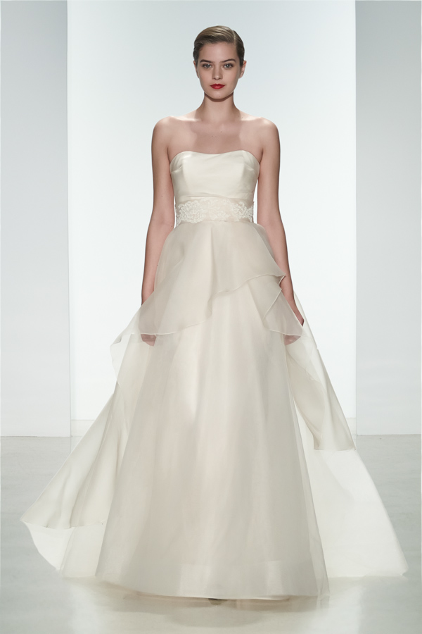 Amsale Spring 2015 Bridal Collection | via junebugweddings.com