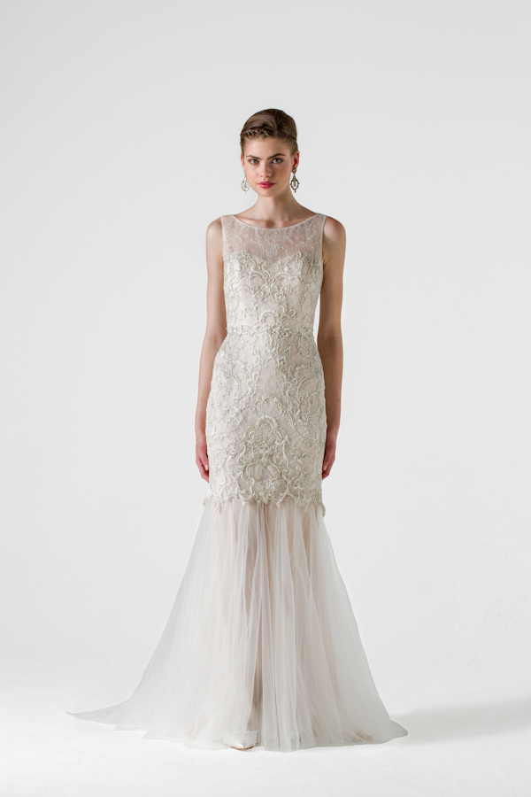 Black Label by Anne Barge Spring 2015 Bridal Collection | via junebugweddings.com
