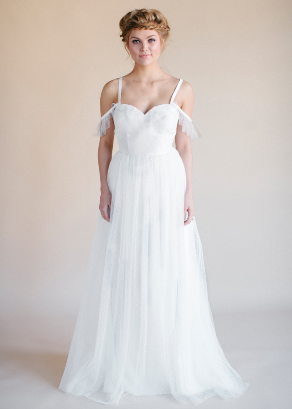 Heidi Elnora Spring 2015 Bridal Collection | via junebugweddings.com