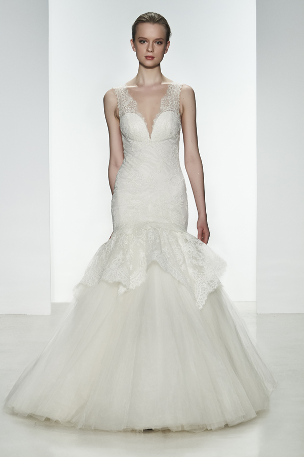 Kenneth Pool Spring 2015 Bridal Collection | via junebugweddings.com