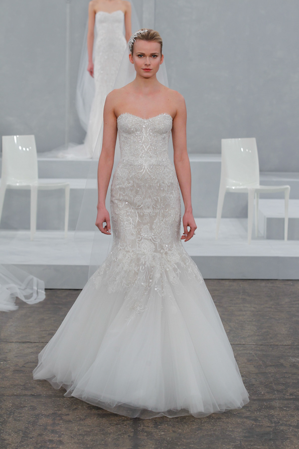 Monique Lhuillier Spring 2015 Bridal Collection | via junebugweddings.com
