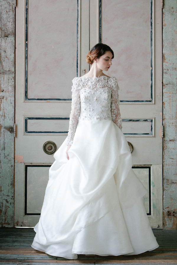 Sareh Nouri Spring 2015 Bridal Collection | via junebugweddings.com