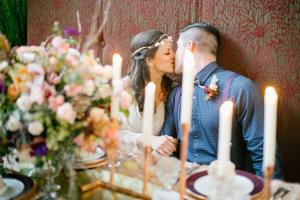 boho chic wedding inspiration photo shoot, photo by Kimberly Chau Photography | via junebugweddings.com