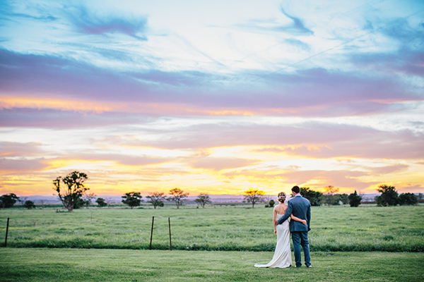 charming Australia wedding with gorgeous wedding party style, photo by Hannah Blackmore Photography | via junebugweddings.com