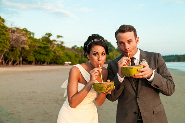 exotic destination wedding in Costa Rica, photo by A Brit & A Blonde | via junebugweddings.com