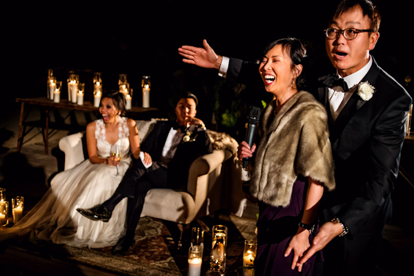 intimate romantic wedding and surprise dance party reception, photo by davina + daniel | via junebugweddings.com