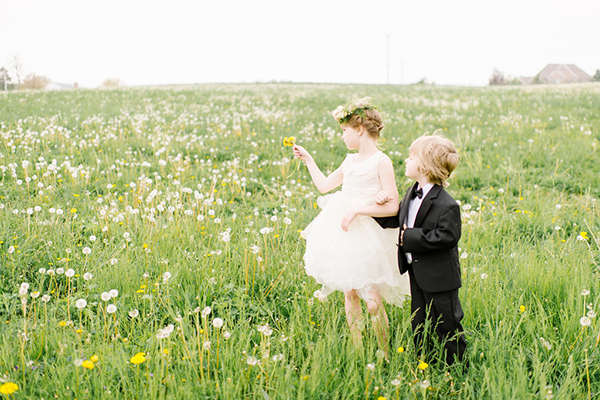 darling countryside wedding inspiration photo shoot, photo by L Hewitt Photography | via junebugweddings.com