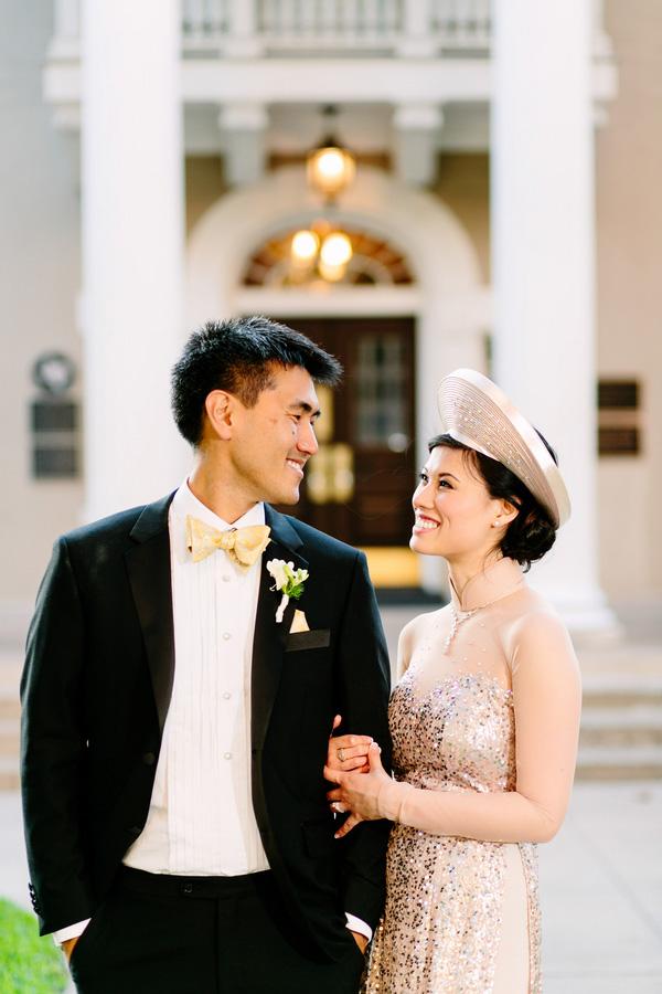 Chic Bridal Style Across Cultures, Photo by Caroline + Ben Photography | via junebugweddings.com
