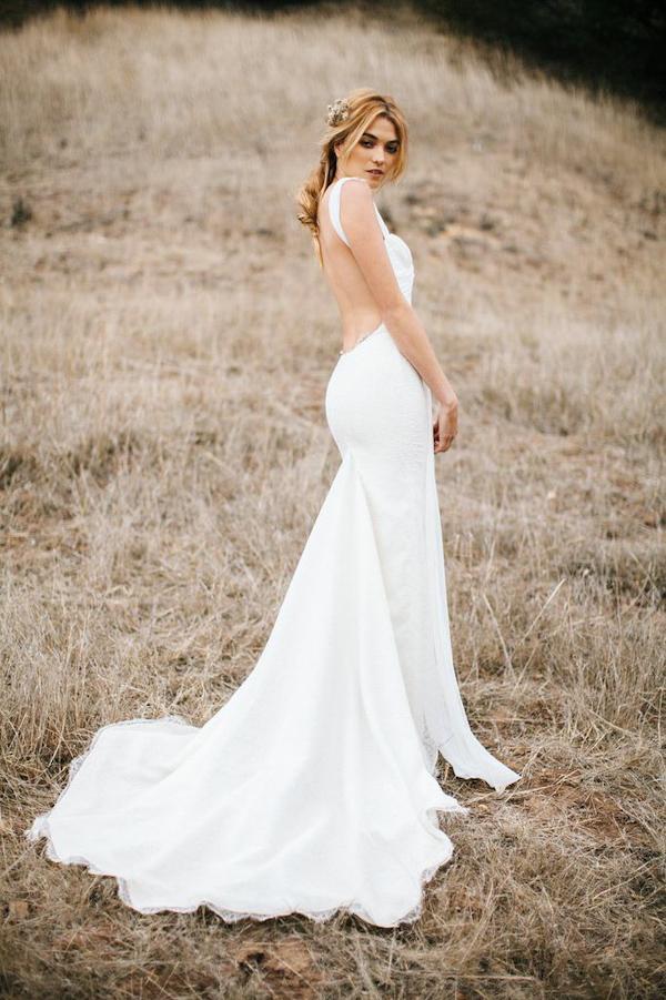 Backless Wedding Dresses from Katie May | Junebug Weddings