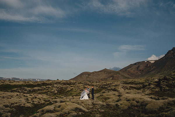 Majestic Icelandic Elopement, Photo by Gabe McClintock | via junebugweddings.com