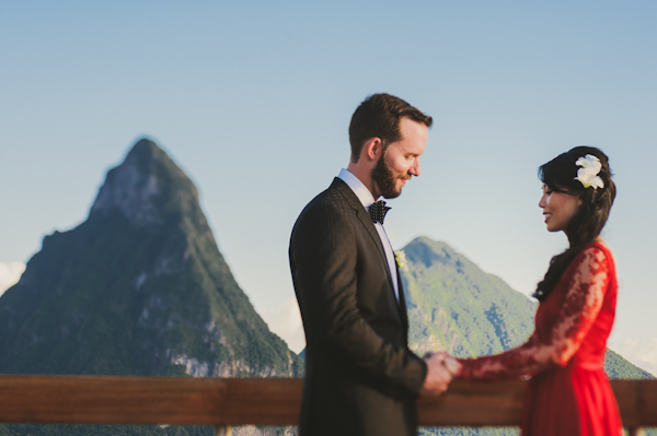 stylish and scenic destination wedding in St. Lucia, photo by C&I Studios | via junebugweddings.com