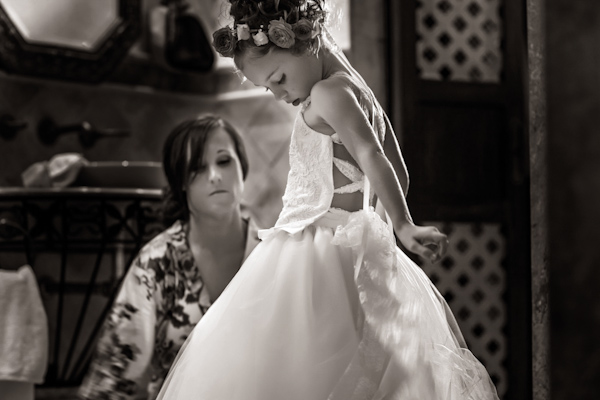 flower girl dress, photo by Zasil Studio | via junebugweddings.com