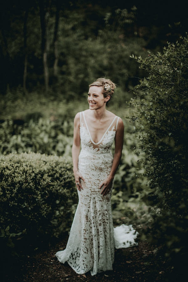 wedding dress by Inbal Dror, photo by Bradford Martens | via junebugweddings.com