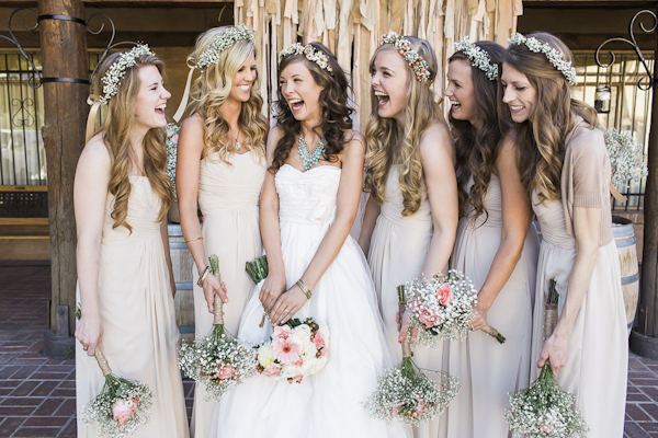 rustic bridal party fashion, photo by Rachel Solomon | via junebugweddings.com