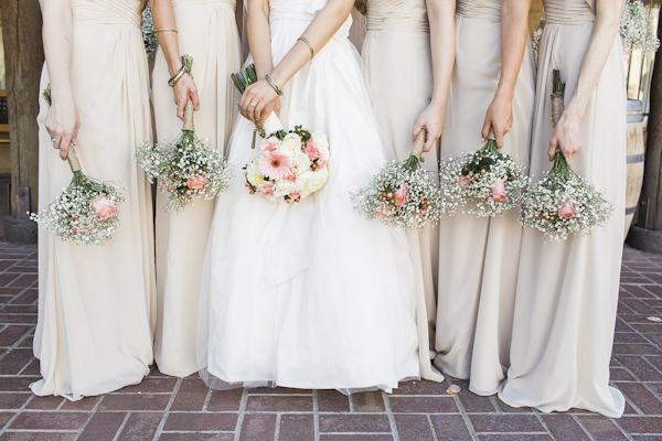 rustic bridesmaids bouquets, photo by Rachel Solomon | via junebugweddings.com