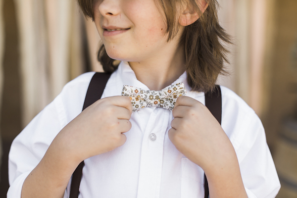 adorable bow ties for kids, photo by Rachel Solomon | via junebugweddings.com