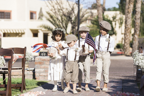 adorable ring bearers and flower girls, photo by Rachel Solomon | via junebugweddings.com