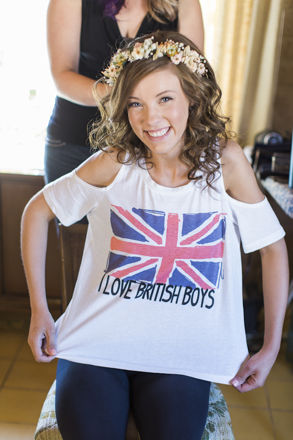 I Love British Boys Tee, photo by Rachel Solomon | via junebugweddings.com