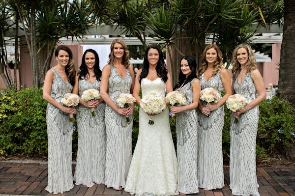 Glamorous Bridal Party Style Photo By Kristen Weaver Photography Via Junebugweddings