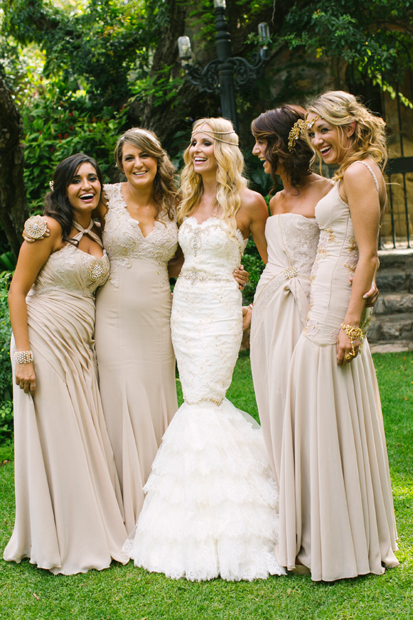 Gold wedding in johannesburg south africa junebug weddings for Wedding party dress up