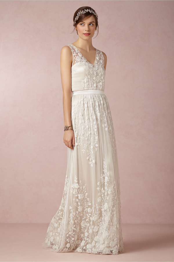 Get the Perfect Bohemian Bride Look with BHLDN | via Junebug Weddings