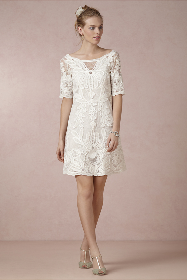 Get the Perfect Bohemian Bride Look with BHLDN | via Junebug Weddings
