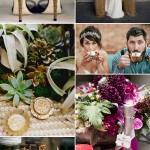 Magenta and Gold Wedding Color Palette Inspiration Board