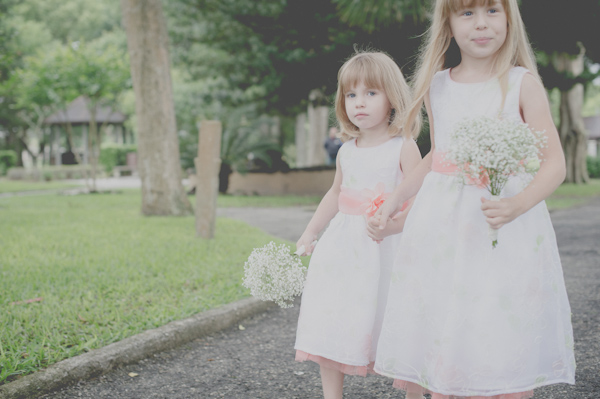 flower girls, photo by Still55 Photography | via junebugweddings.com