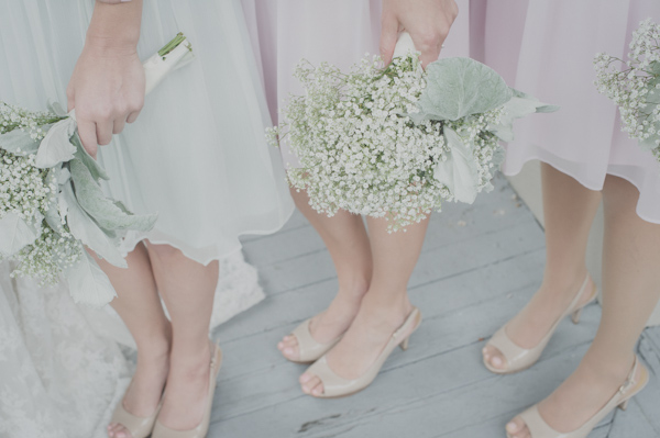 baby's breath bouquets, photo by Still55 Photography | via junebugweddings.com