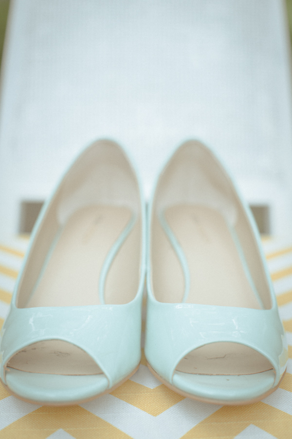 mint bridal shoes, photo by Still55 Photography | via junebugweddings.com