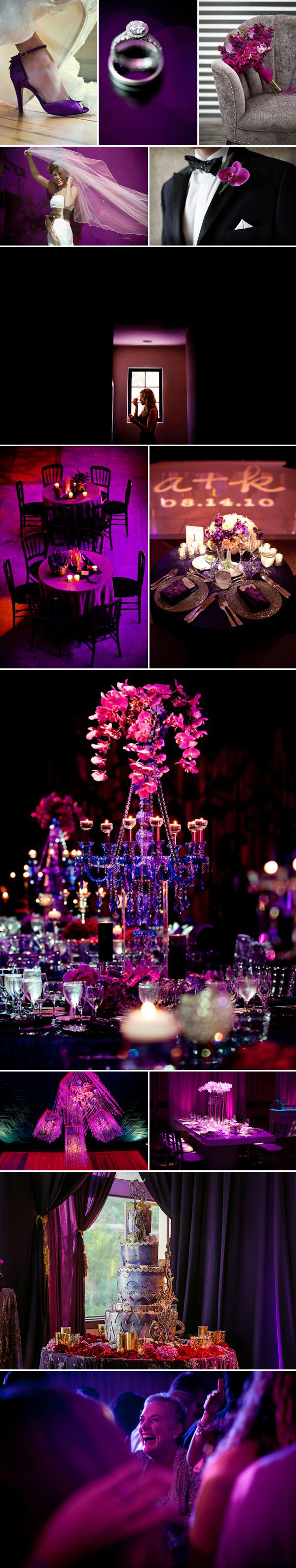 radiant orchid color palette inspiration board | via junebugweddings.com