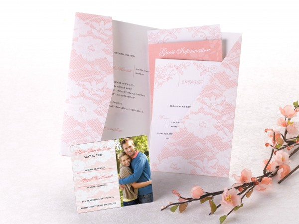 Pocket Wedding Invitation + Save the Date from MagnetStreet