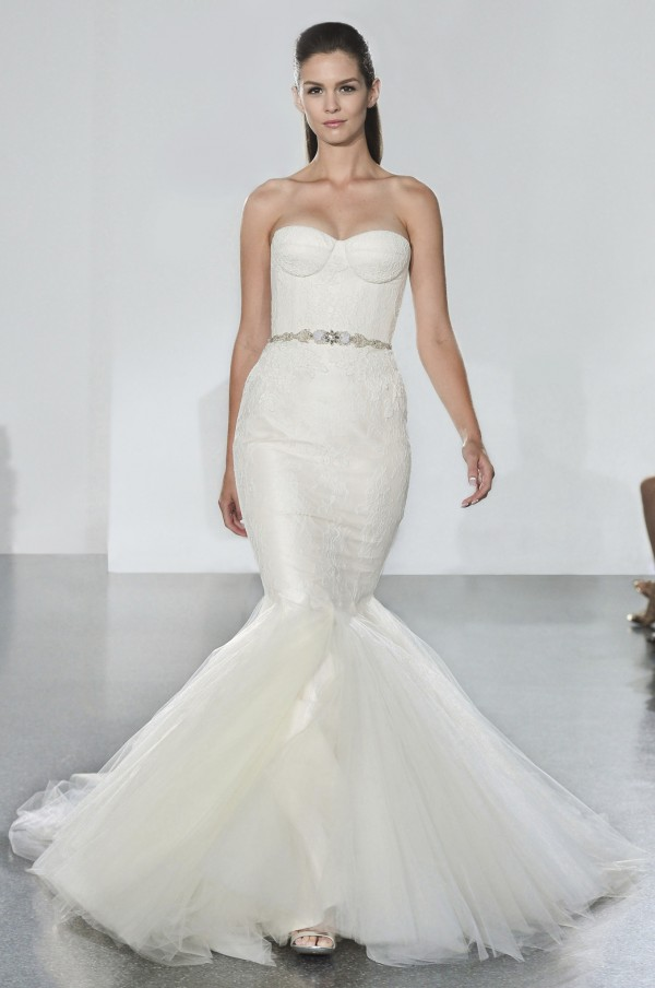 Romona Keveza bustier bodice wedding dress