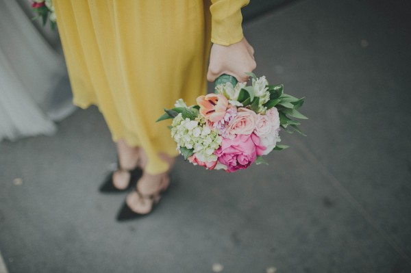 vibrant bridesmaids' bouquet